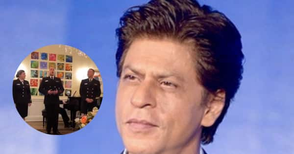 Shah Rukh Khan REACTS to US Navy personnel singing Yeh Jo Des Hai Tera from Swades
