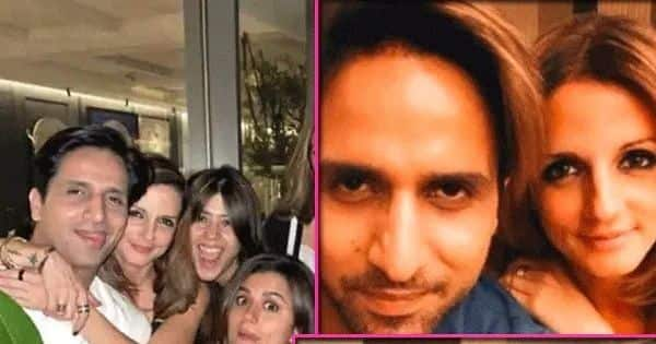 Amidst Sussanne Khan and Arslan Goni's dating rumors; their cozy pictures from Ekta Kapoor's party go viral – View Pics