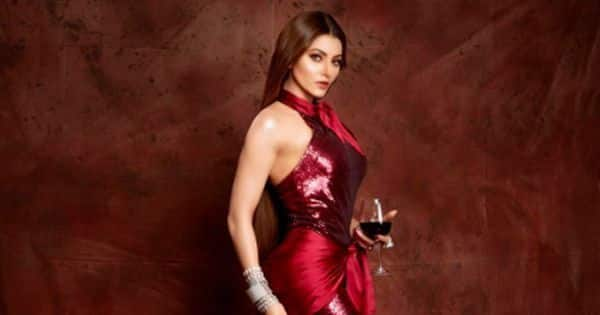 Urvashi Rautela is a scarlet siren in the sexiest gown you'll ever see
