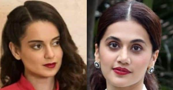 Kangana Ranaut calls Taapsee Pannu 'she-man' in a NASTY tweet; neitizens ask what's the difference between her and 'Bullywood'