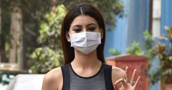 Urvashi Rautela flaunts her midriff has she clicked in stylish black pants and a crop top – view pics