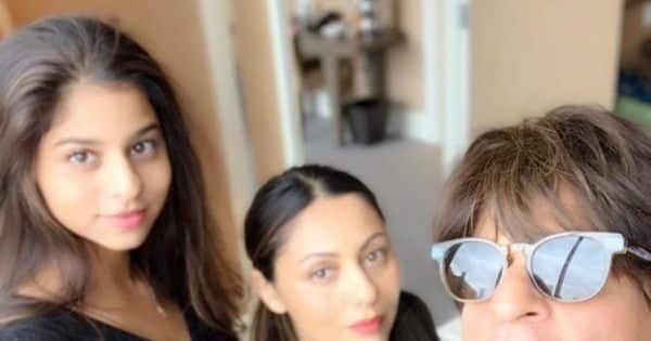 OMG! THIS childhood picture of Shah Rukh Khan and Gauri Khan's daughter Suhana Khan is breaking the internet