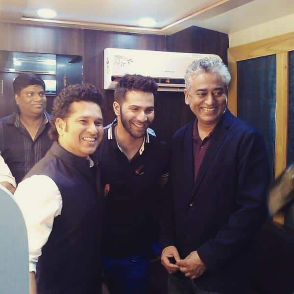 When Badlapur actor Varun Dhawan forgot all about his 'badla' on meeting Sachin Tendulkar!