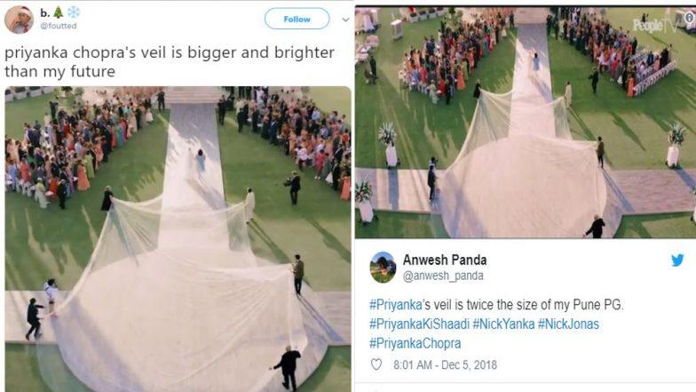 Priyanka Chopra Nick Jonas Wedding Pc S 75 Ft Long Veil Inspires