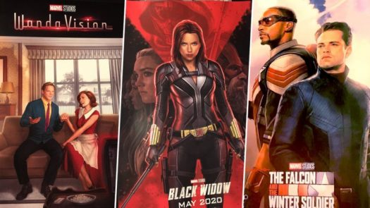 Marvel Posters of Black Widow, Wanda Vision and The Falcon ...