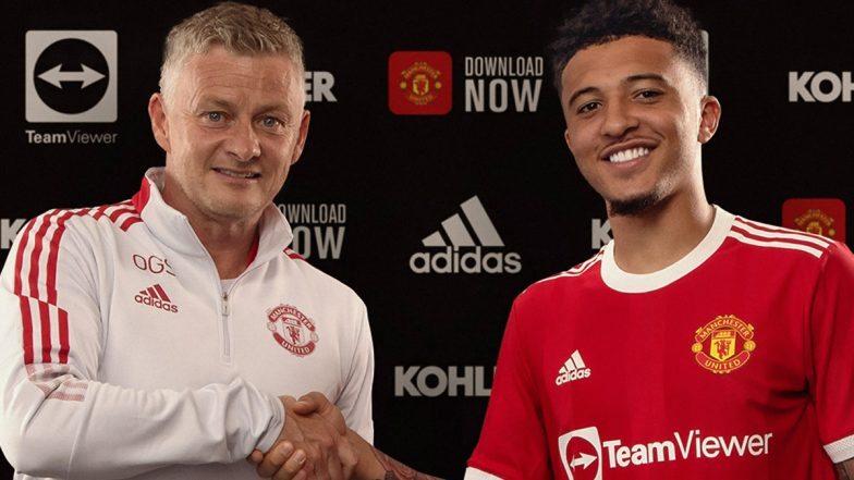 Jadon Sancho Unveiled as a Manchester United Player, See Pictures | ⚽  LatestLY