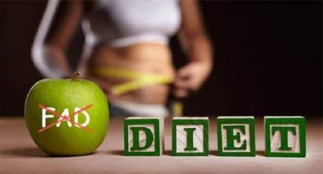 Fad-diets may give quick results but are detrimental for health