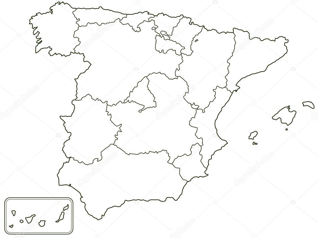 Cartina Spagna Bianca Tomveelers