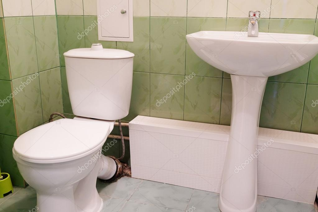 Toilet And Sink In A Wc Bathroom Stock Photo C Uatp12 63101835