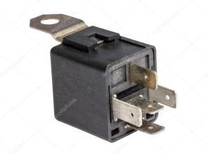 Coleção eletrônica  interruptor do relé eletromagnético de carro — Fotografias de Stock