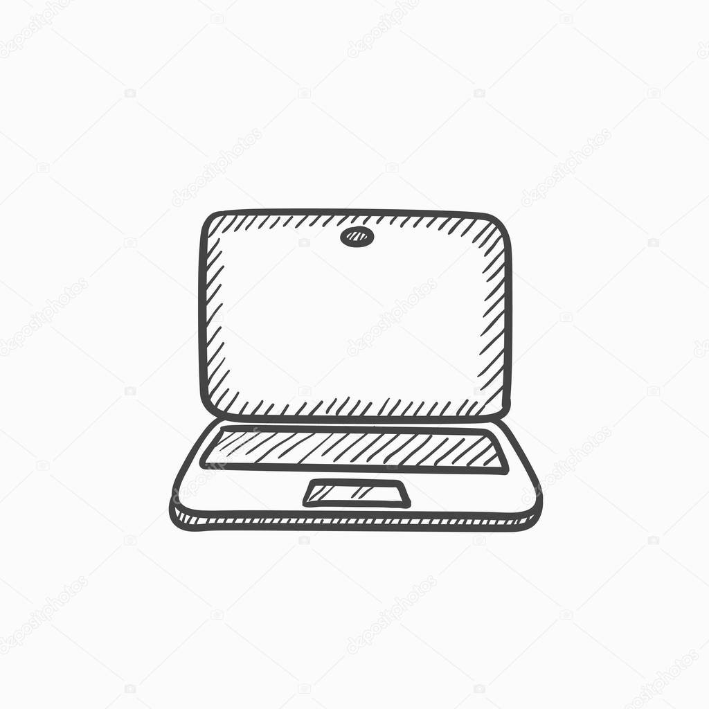 Icono De Dibujo Del Ordenador Portatil