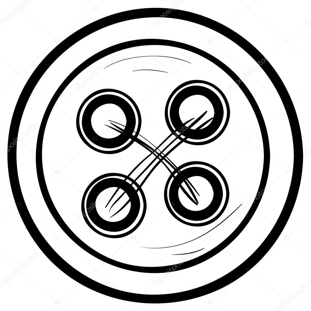 Button Sketch Illustration