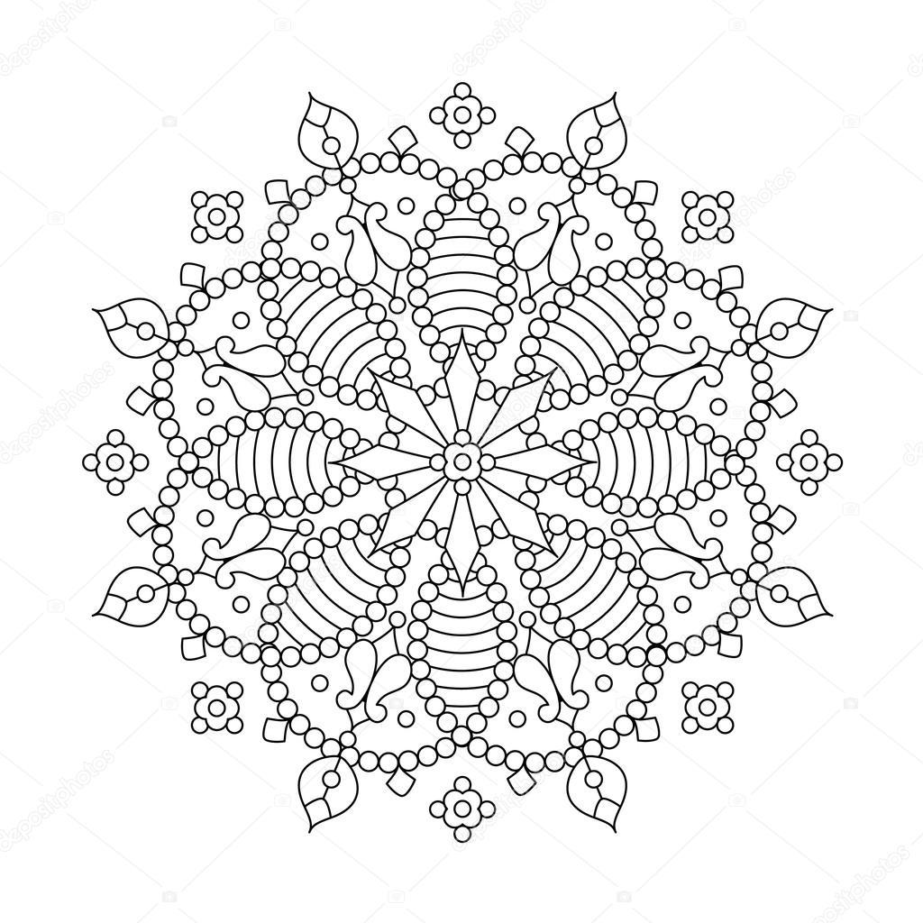 35 Snowflake Mandala Coloring Pages