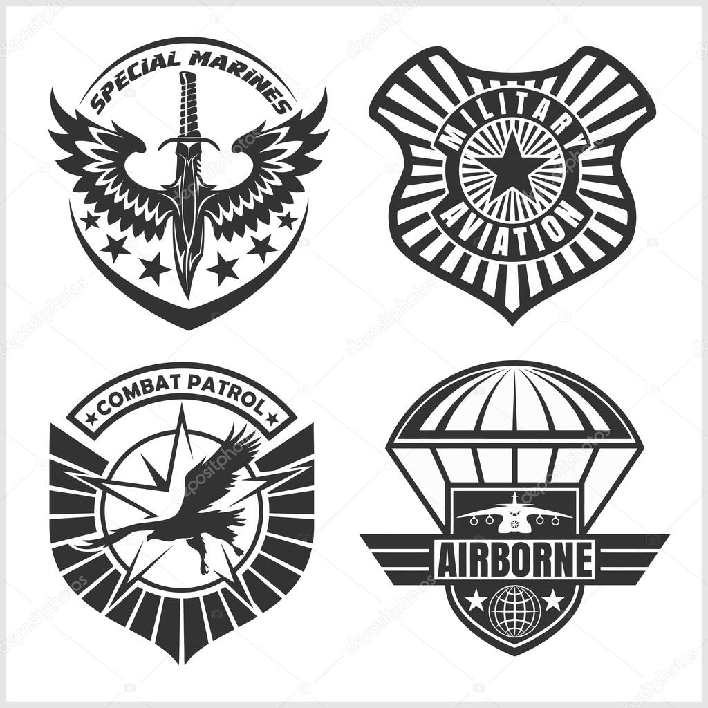 Clipart Airforce Military Airforce Patch Set