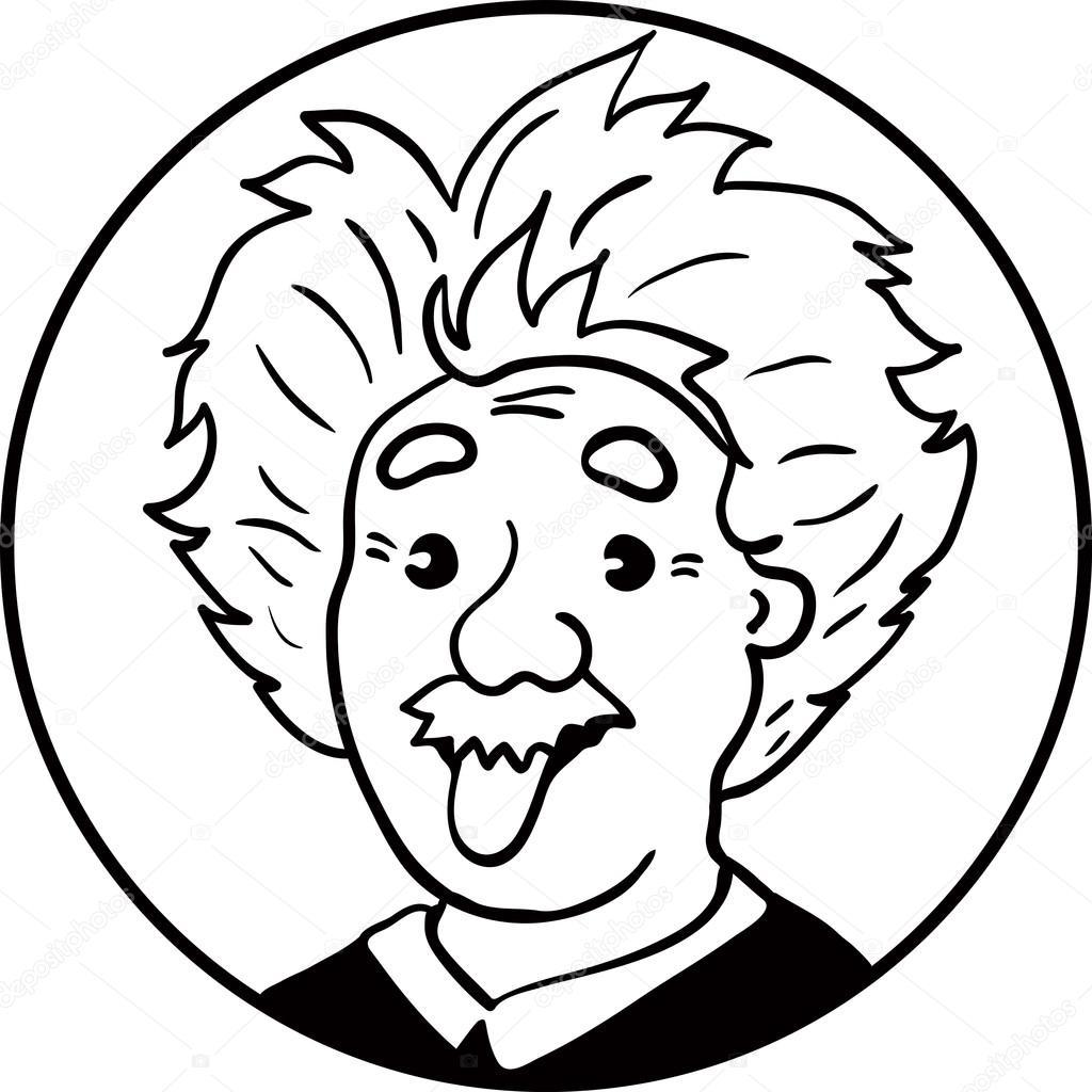 Vector Dibujo De Albert Einstein
