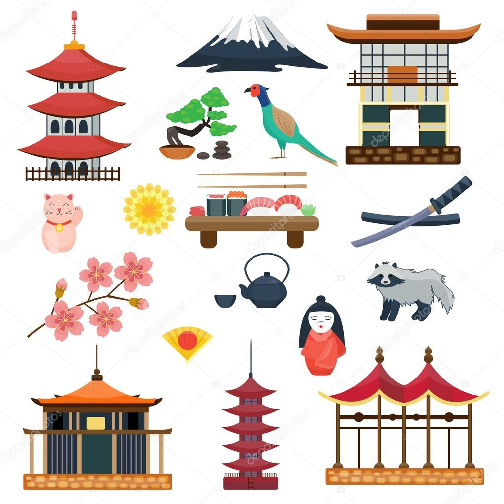 Japan Vector Collection Japanese Traditional Symbols