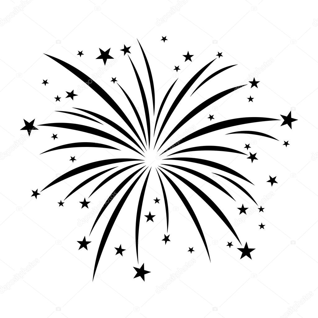 Fireworks Celebration Vector Icon