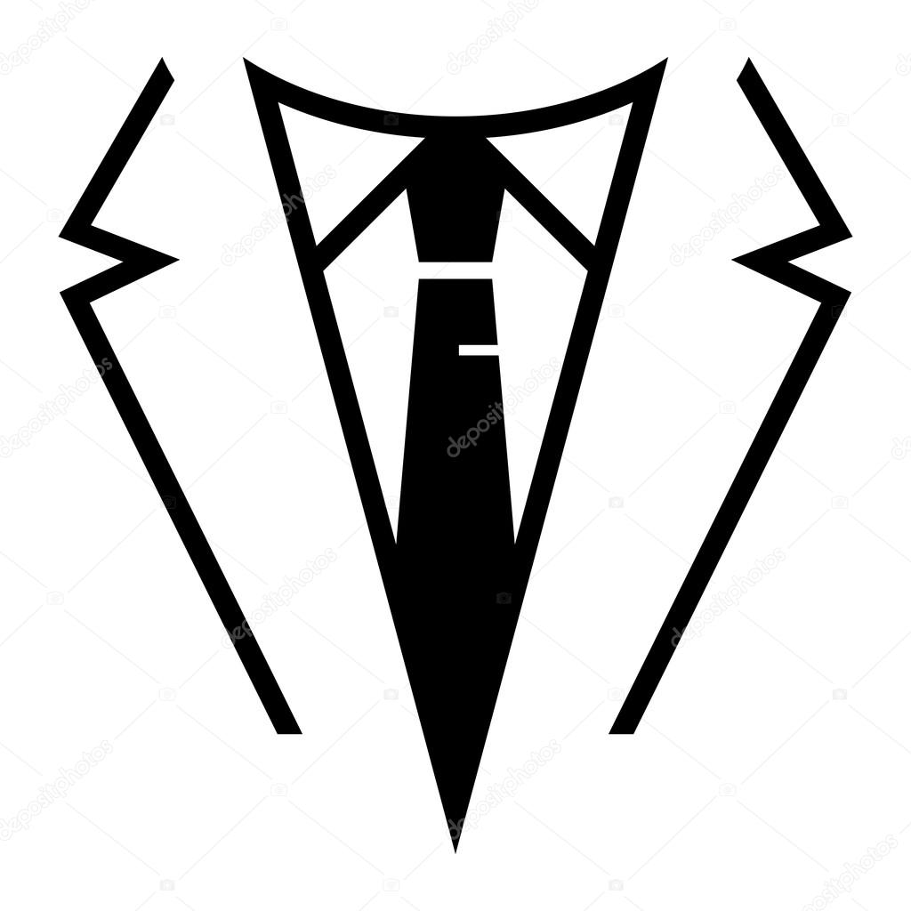 Business Formal Suit Amp Tie Outfit Vector Icon