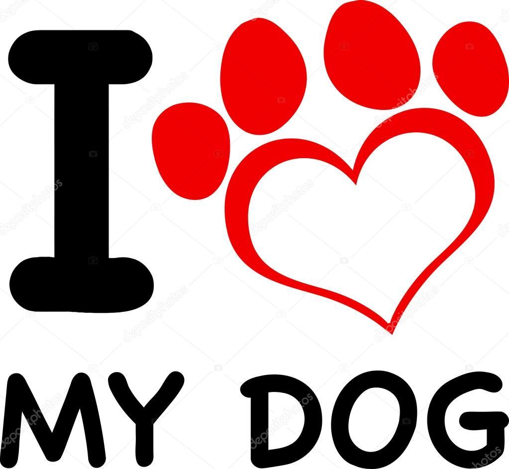 Download I Love My Dog — Stock Vector © HitToon #61079103