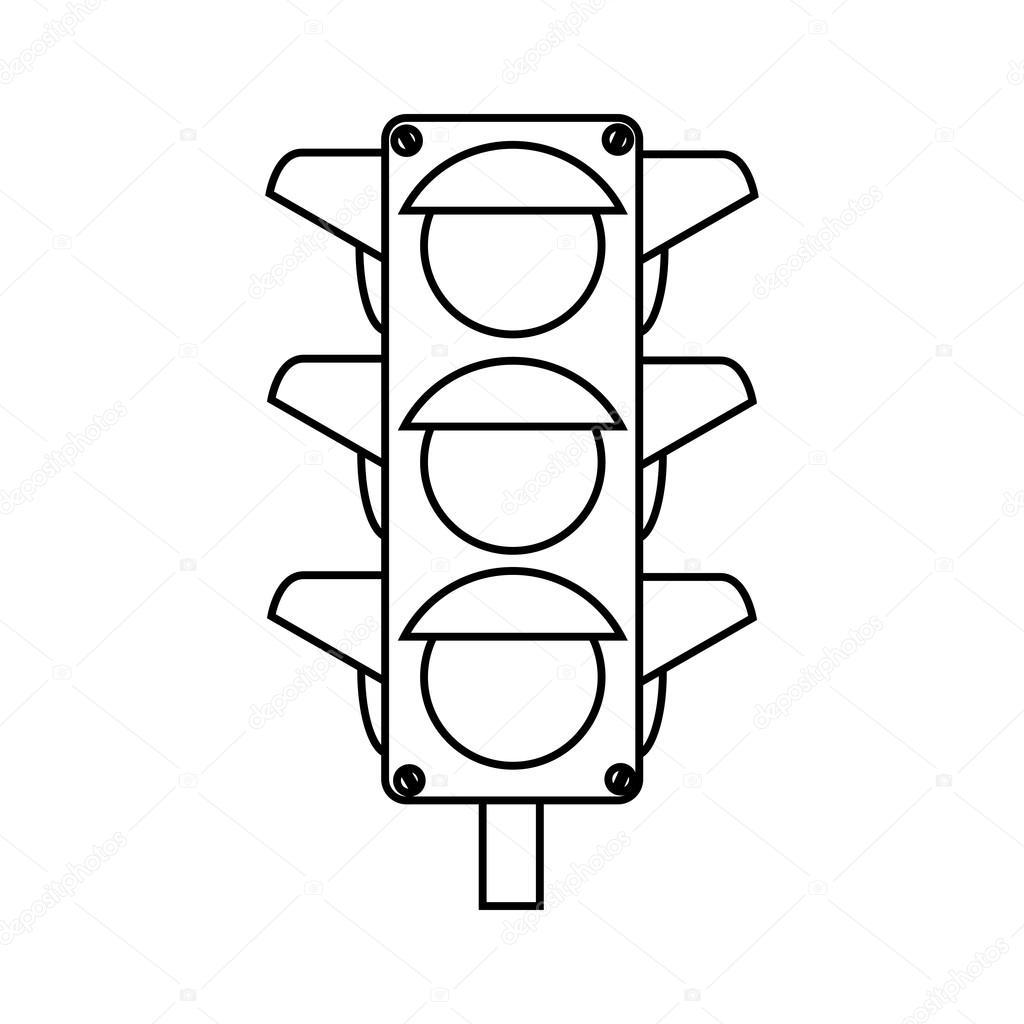 Ampel Semaphore Symbol Vektor Illustration