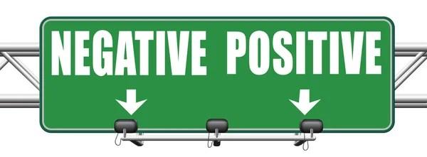 Negatief of positief denken — Stockfoto