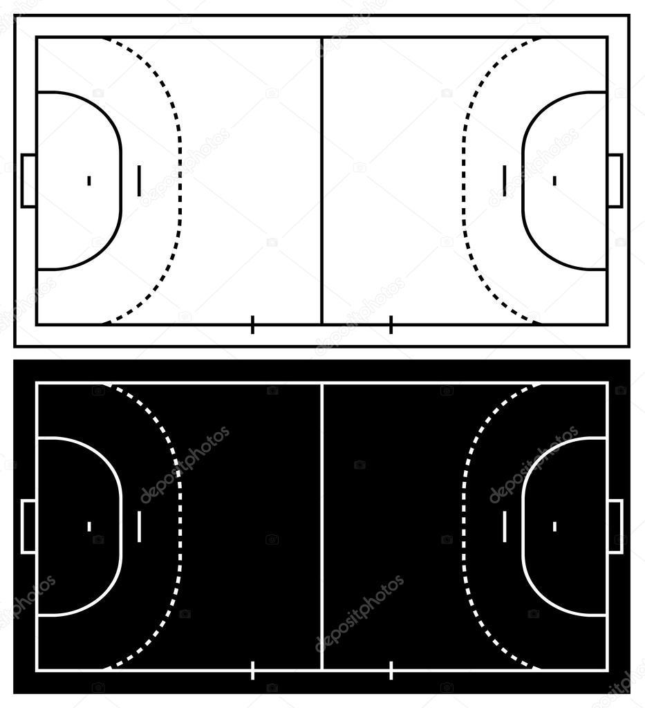 vektorgrafiken handball feld vektorbilder handball feld depositphotos