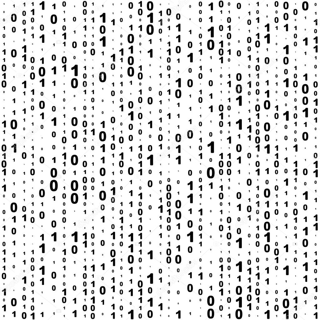 Seamless Binary Code Background