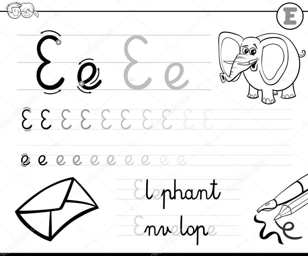Lernen Buchstaben E Zu Schreiben