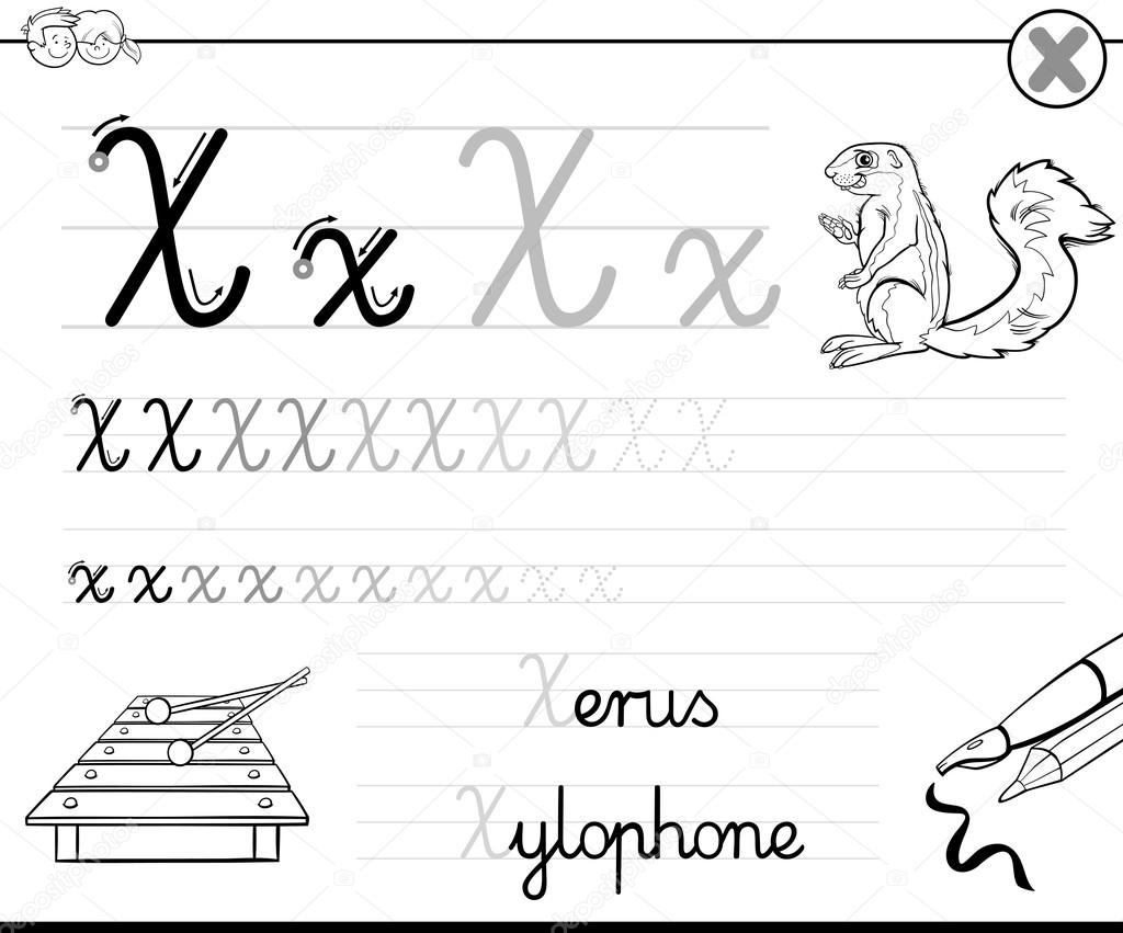 Learn To Write Letter X