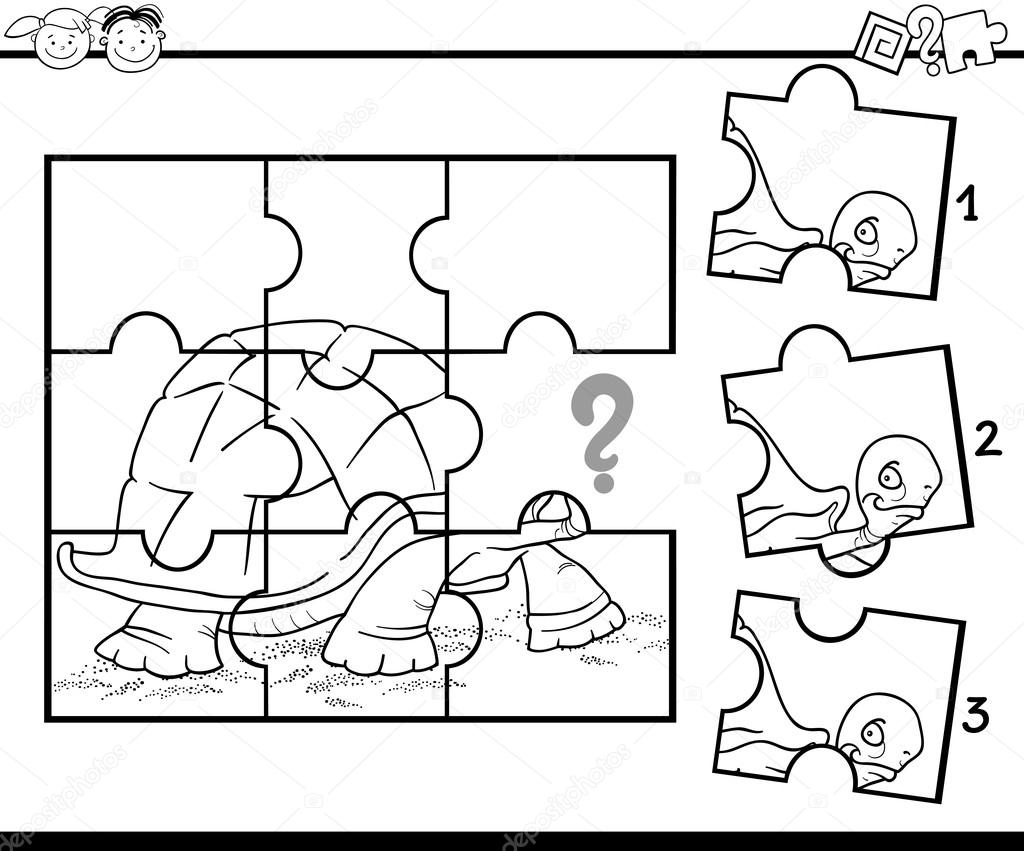 Preschool Jigsaw Coloring Game