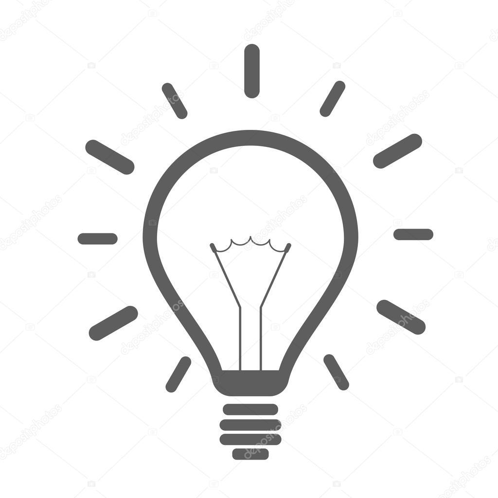 Einfache Gluhbirne Symbol
