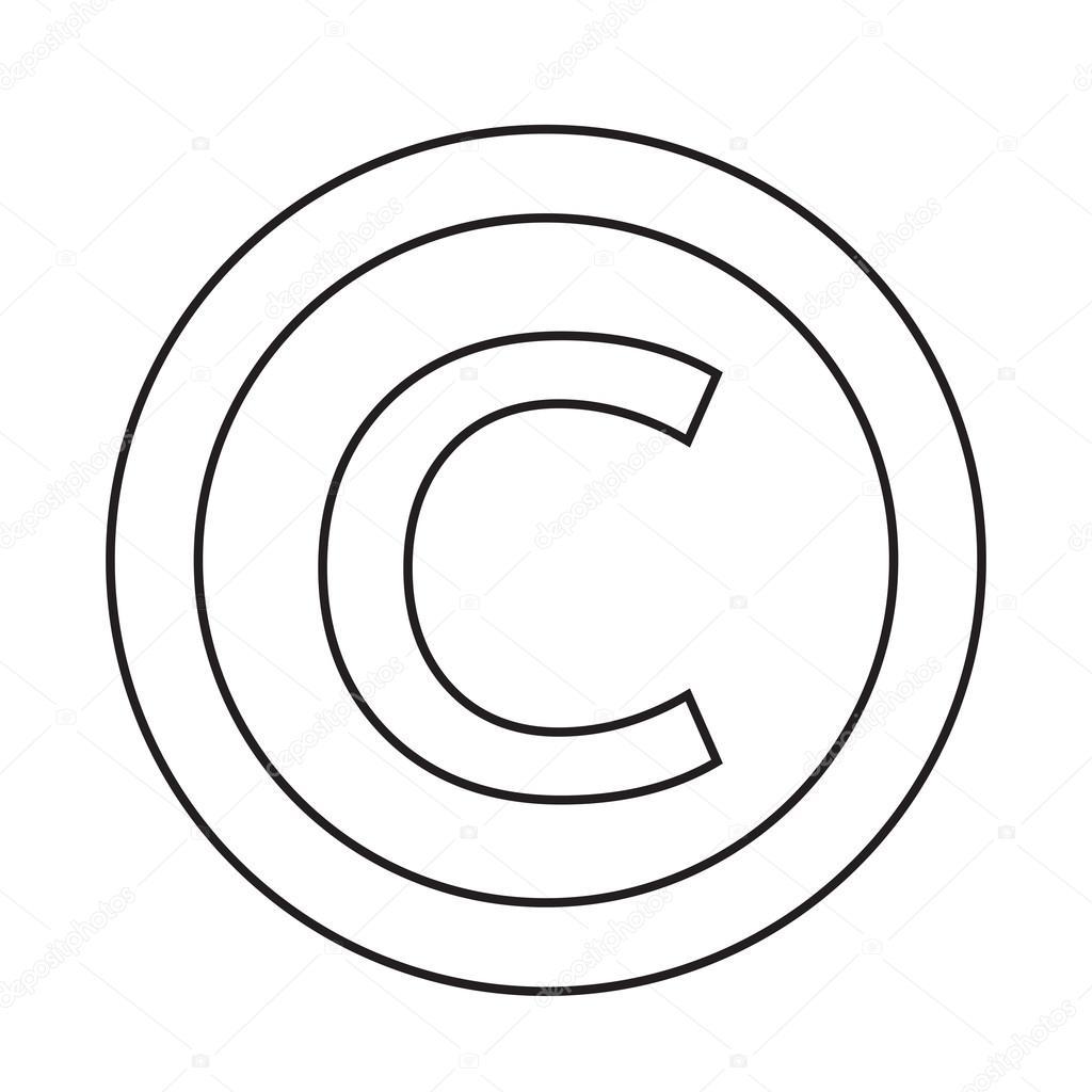Icona Di Simbolo Di Copyright