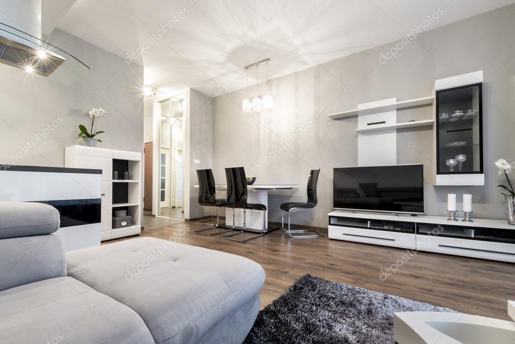 Salone Moderno In Stile Bianco E Nero Foto Stock Jacek