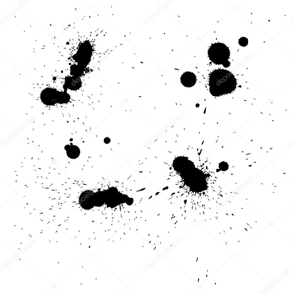 Artistic Black Paint Spots
