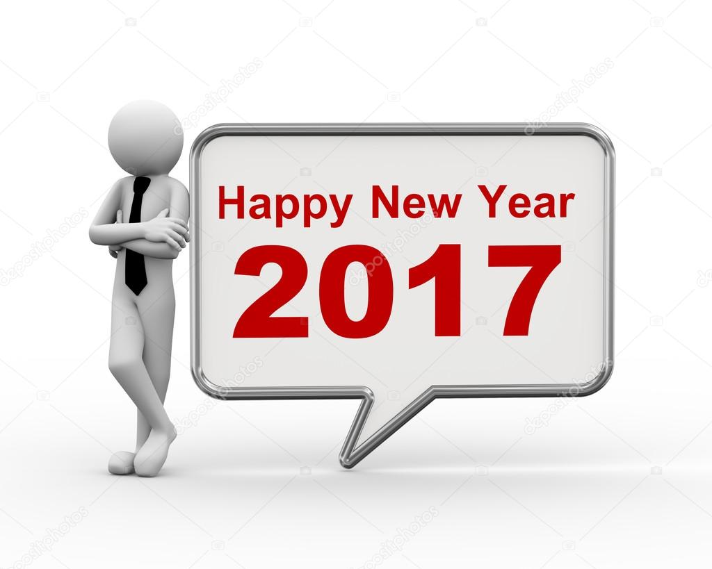 3d businessman new year 2017 speech bubble     Stock Photo      nasirkhan     3d businessman new year 2017 speech bubble     Stock Photo