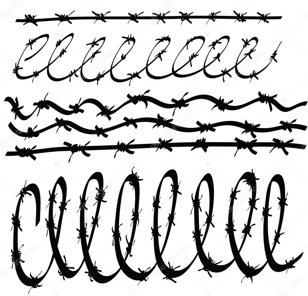 Colorful Concertina Wire Clip Art Illustration - Electrical Circuit ...