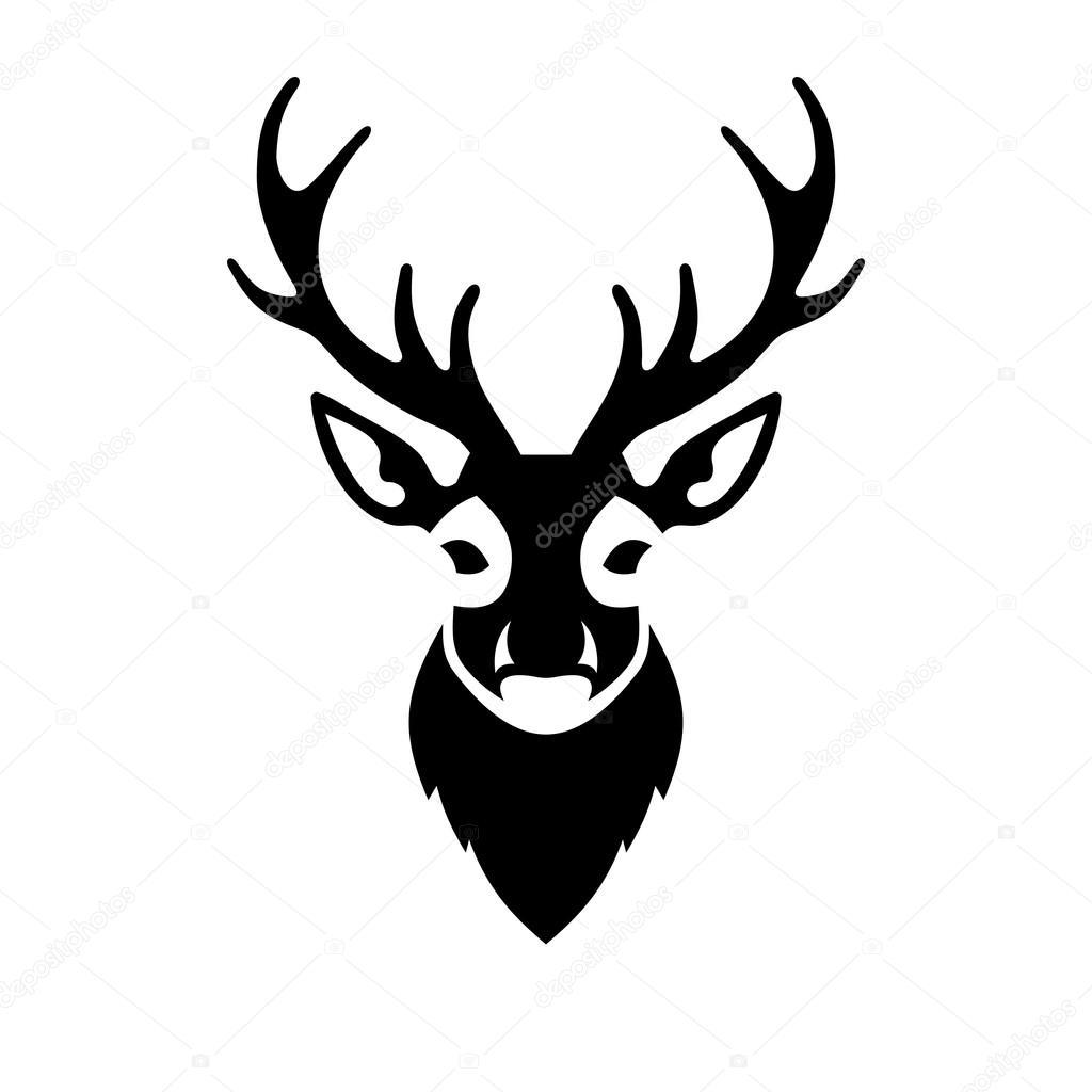 Deer Head Icon Vector Logo