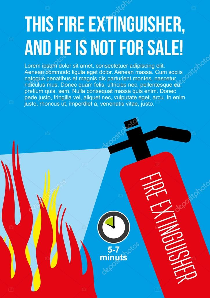 fire safety poster eliminate fire extinguisher vector image by c artmakush1 vector stock 108629038