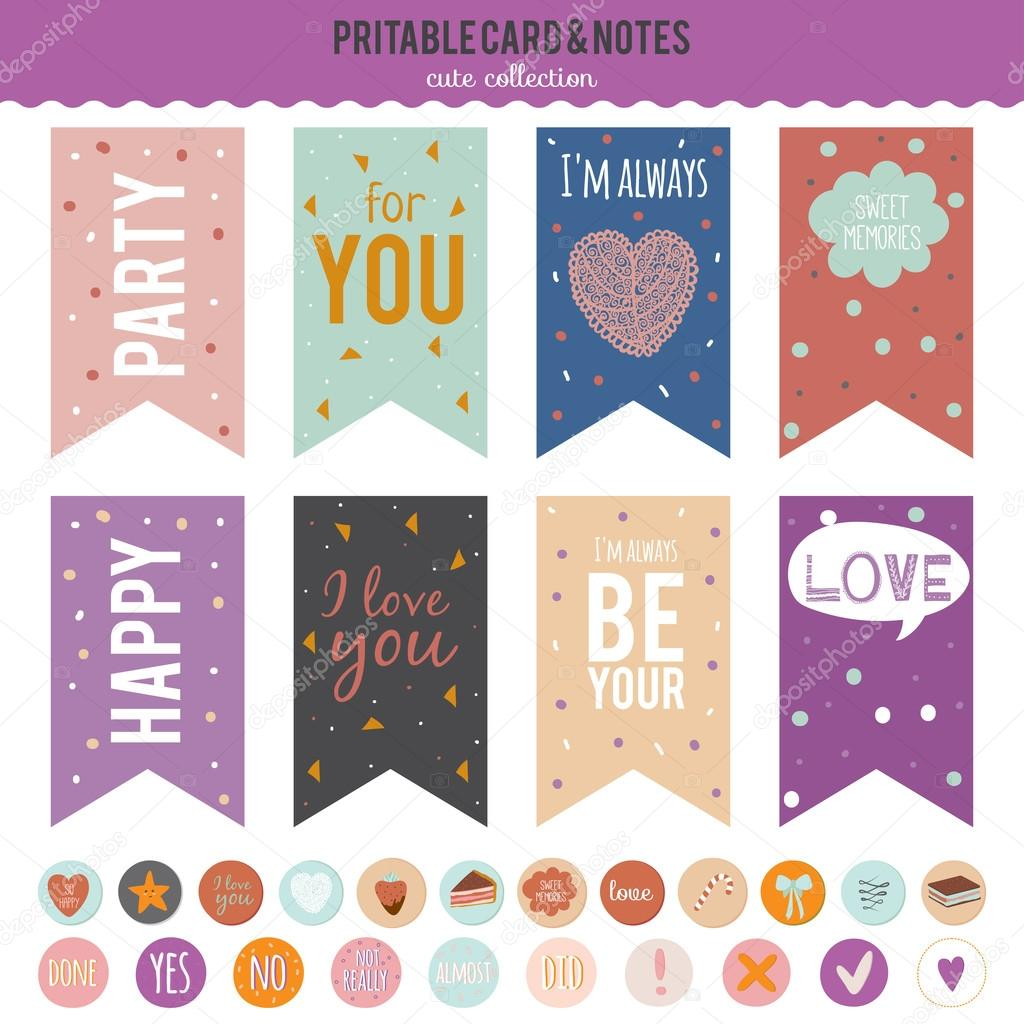 Romantic And Love Stickers Stock Vector One7thlifetime