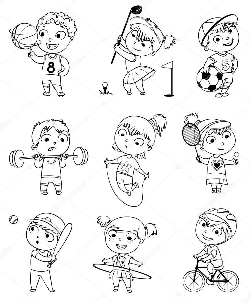 vector illustration set vector by kharlamova lv
