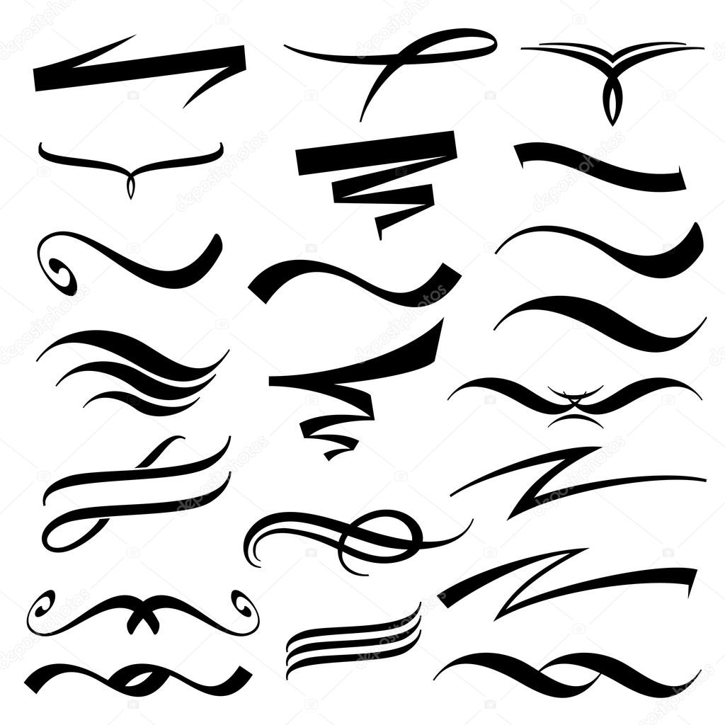 Vector Lettering Underlines Collection