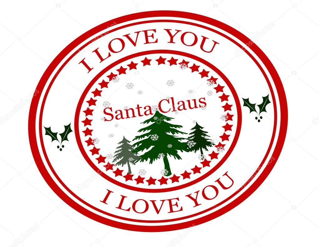 Download I love you Santa Claus — Stock Vector © carmenbobo #57571109