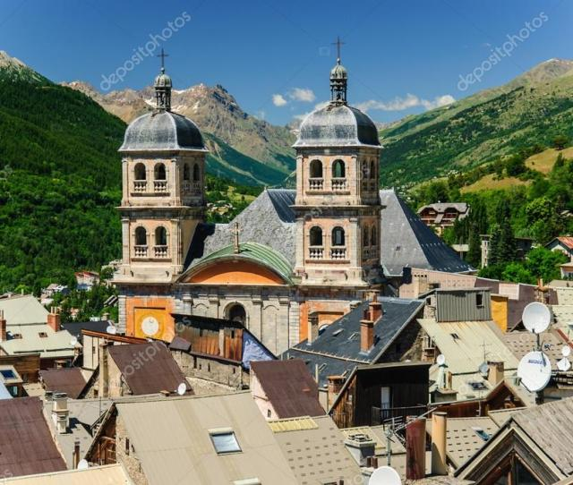 Old Town Of Briancon In French Alps France Stock Photo