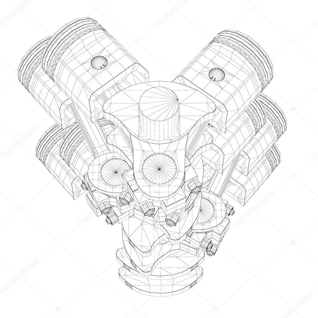 T Oki Silnik V8