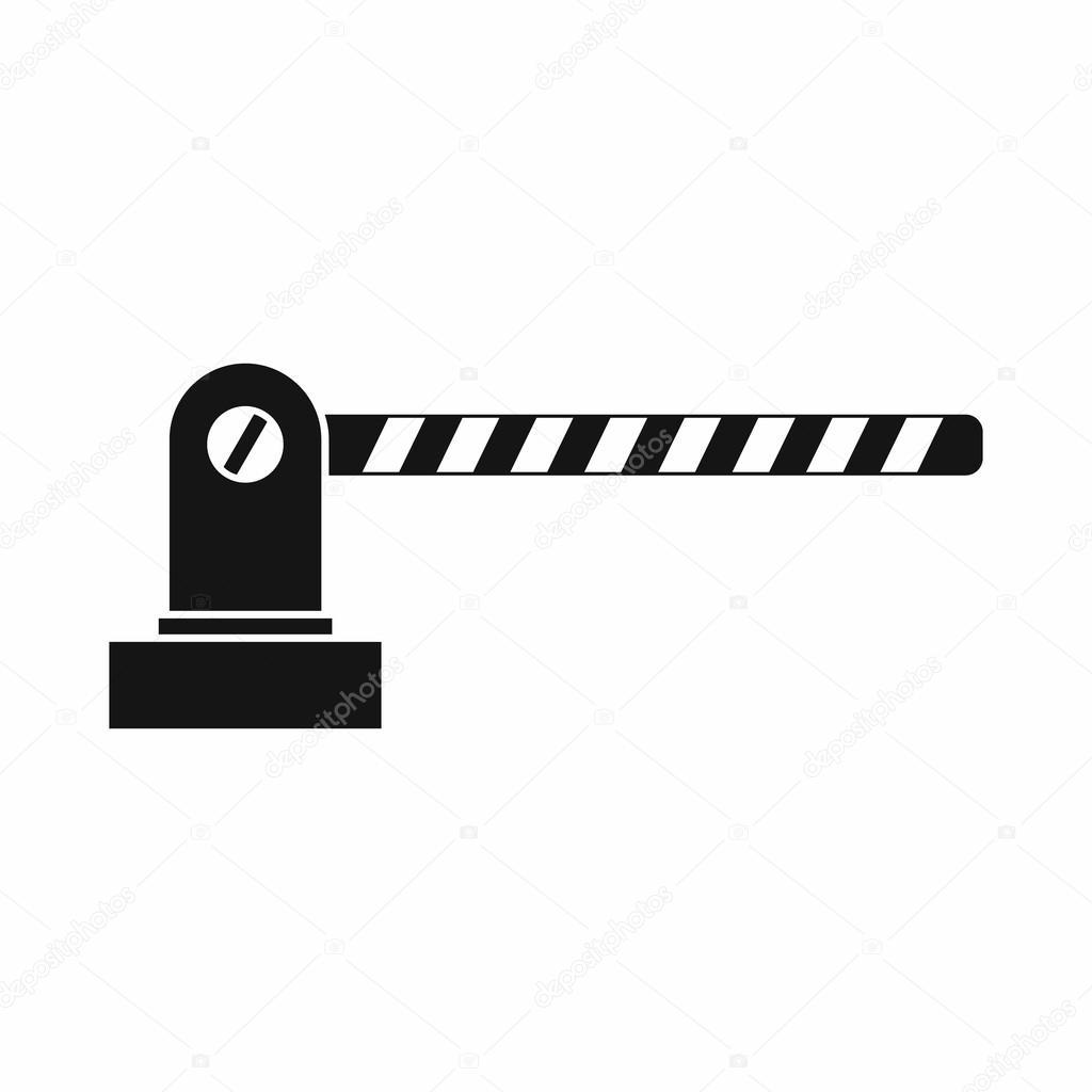 Icona Della Barriera Di Parcheggio Stile Semplice
