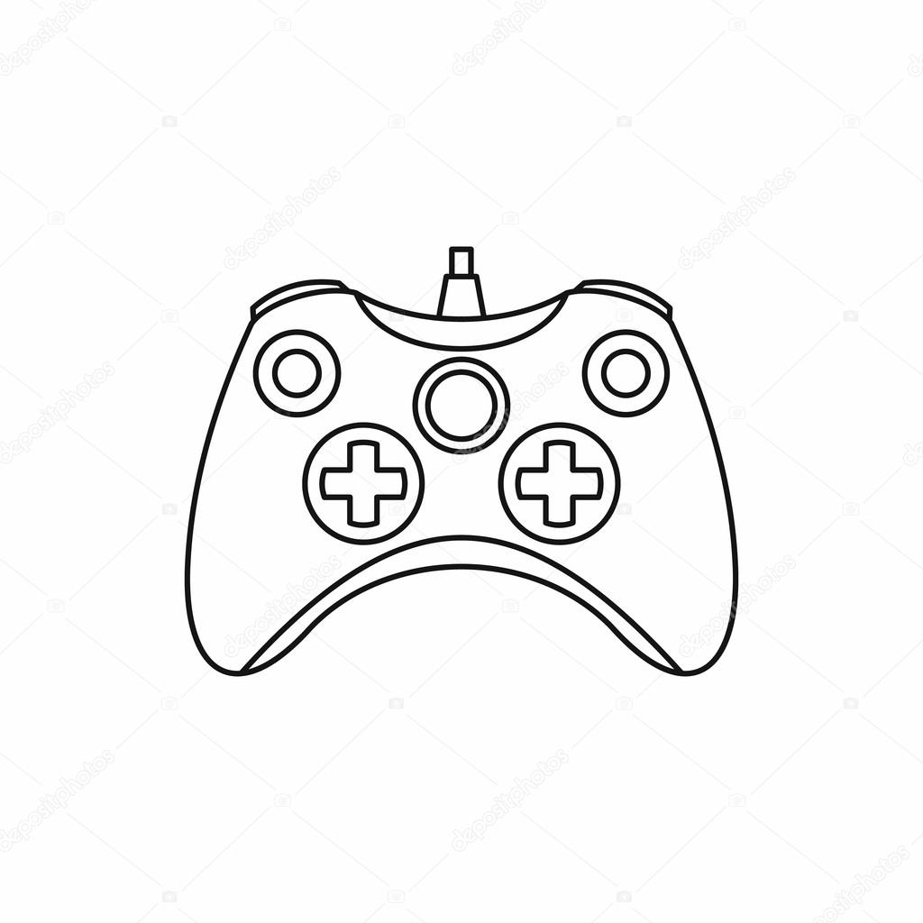 Joystick Game Controller Icon Outline Style