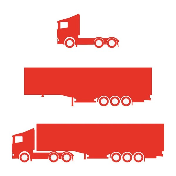 Lorry Silhouette Set Stock Vector Ggebl 56318693