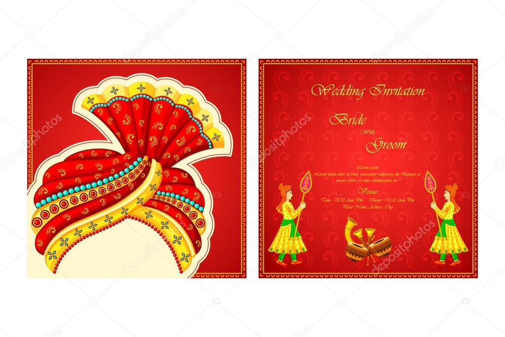ᐈ indian birthday invitation stock vectors royalty free indian wedding invitation illustrations download on depositphotos