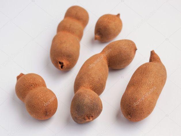 Raw Tamarind Fruits Tamar Hindi Tamarindus Indica — Stock Photo ...