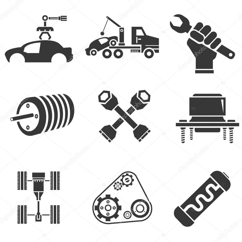 Icones Automotivos Pecas De Carro E Icones De Garagem